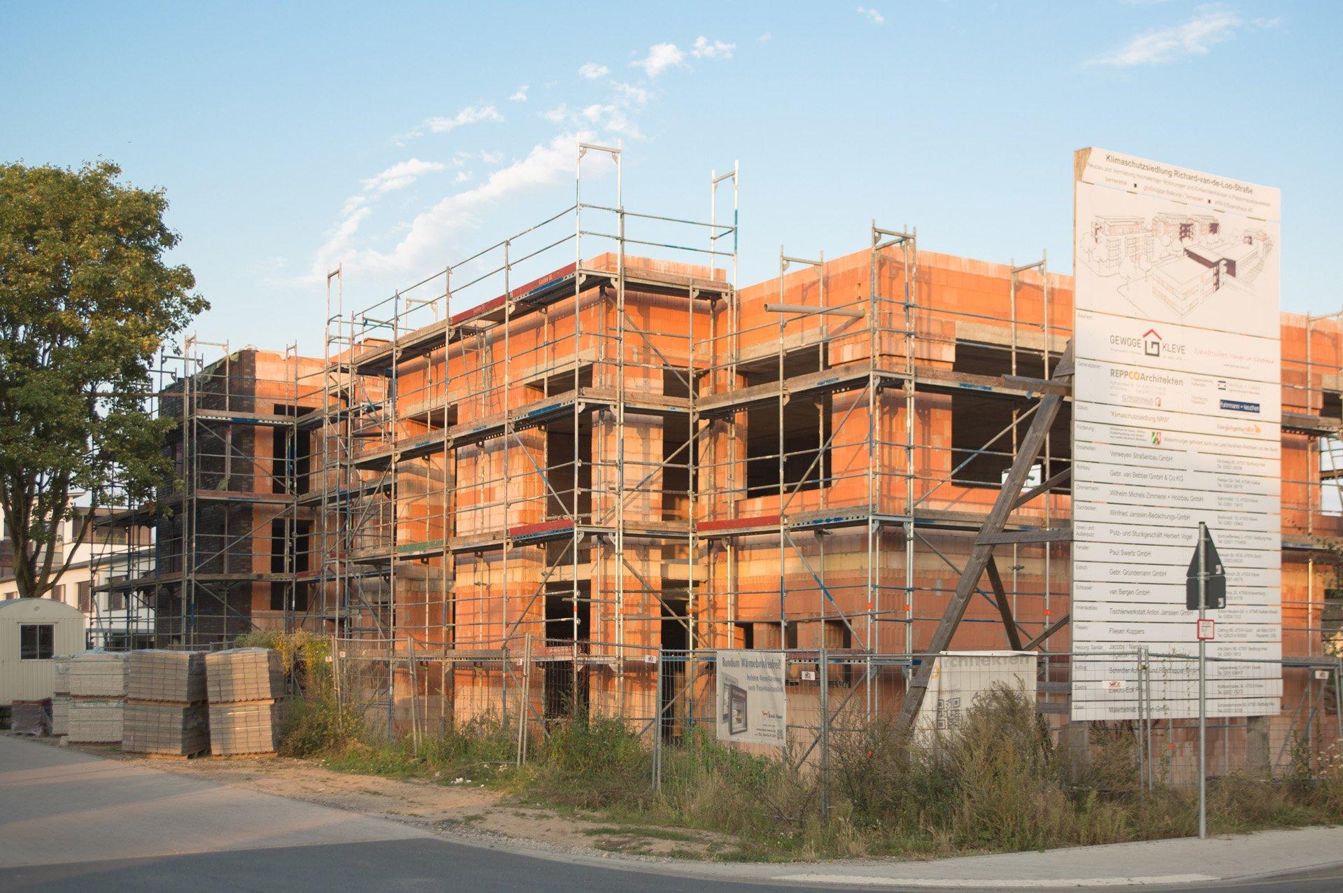 Klimaschutzsiedlung in Bau