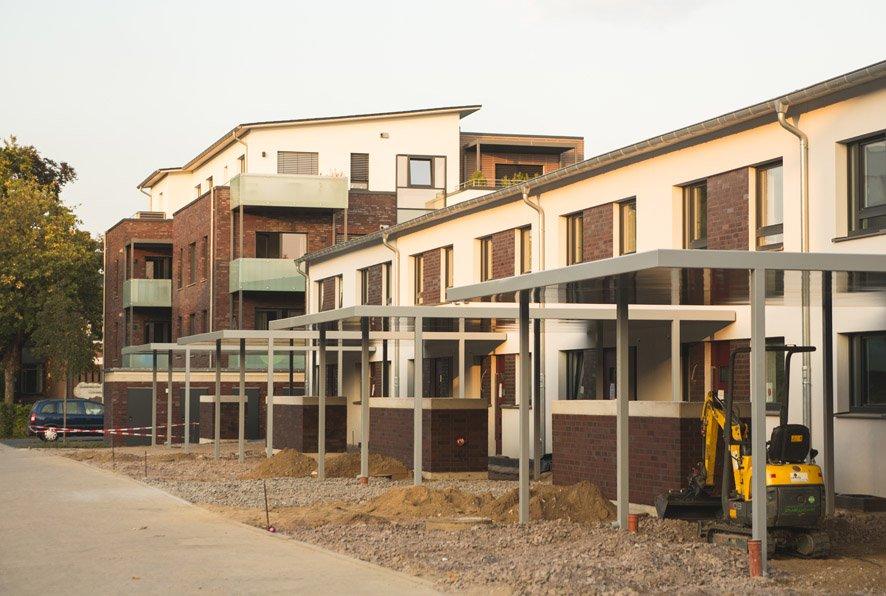 Passivhäuser in der Bauphase