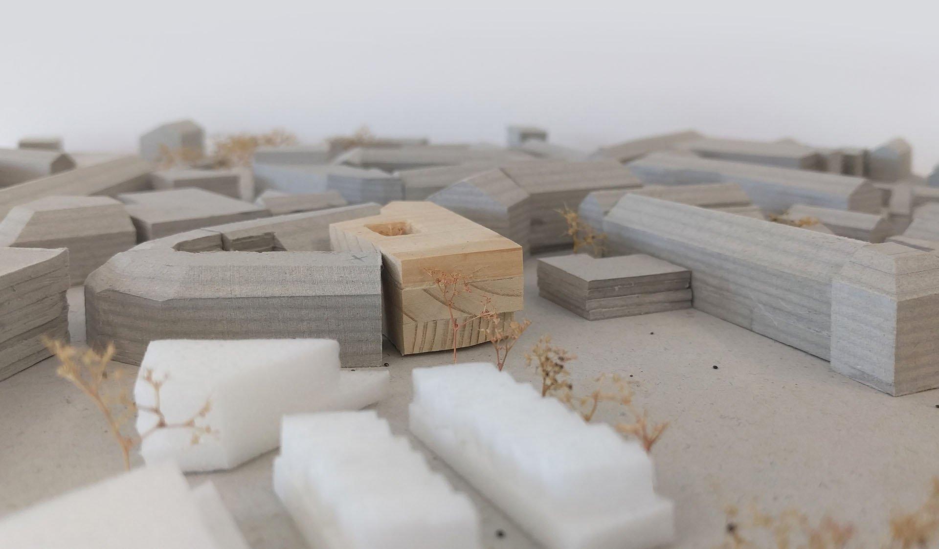 Miniatur Modell Stadtbücherei