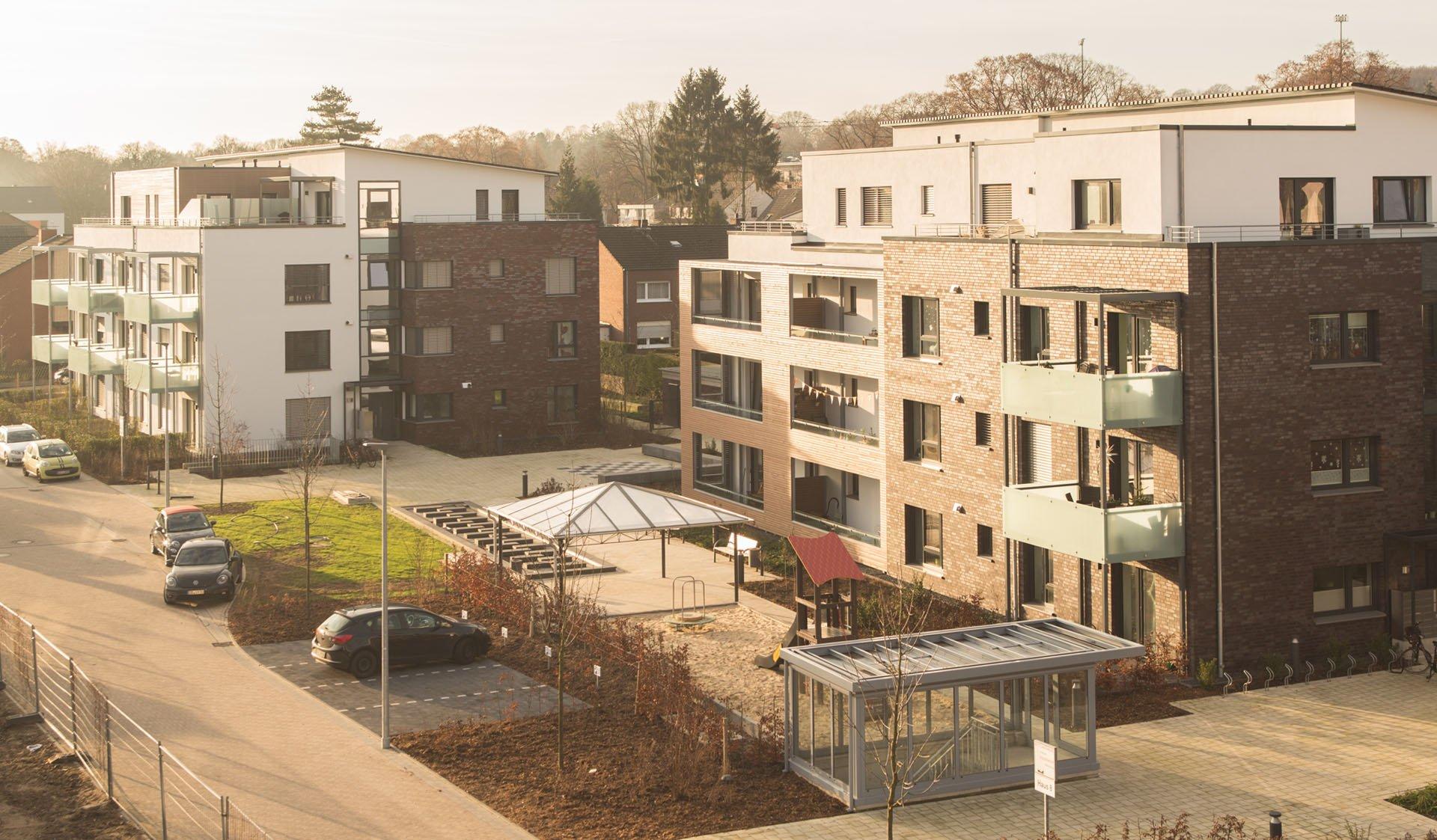 Häuser in Klimaschutzsiedlung