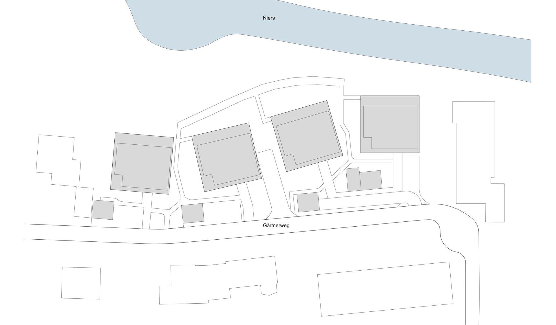 Skizze von Neubau