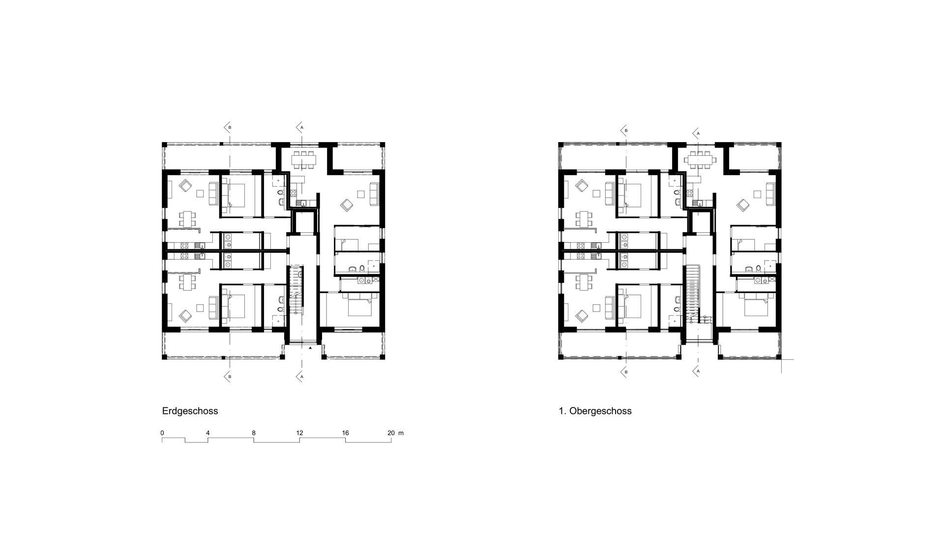 Grundriss Erdgeschoss und Obergeschoss